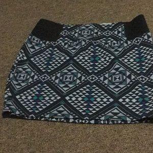 Blue geometric skirt